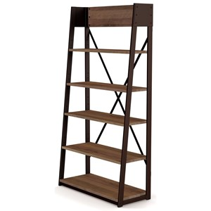 Customizable Solid Wood/Metal Rupert Shelving Unit