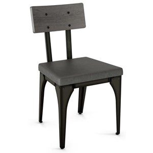2257 Industrial Architect Chair with Upholstered Seat