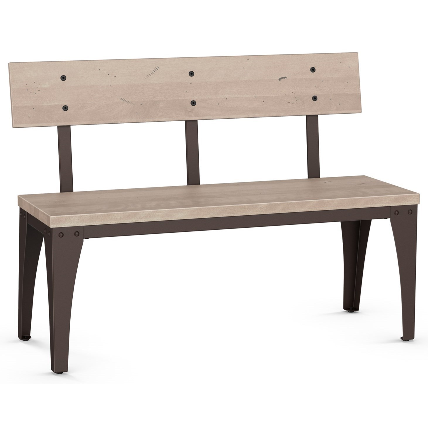 Architect Bench with Wood Seat