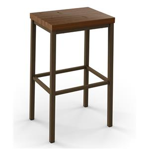 Amisco Industrial Bradley Non-Swivel Counter Height Stool