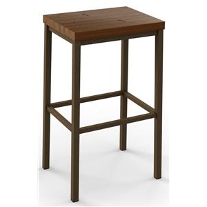 2257 Industrial Bradley Non-Swivel Bar Height Stool