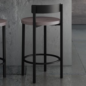 "26"" Zoe Counter Stool with Wood Seat"