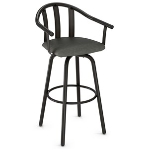 "30"" Gatlin Swivel Bar Stool w/ Cushion Seat"