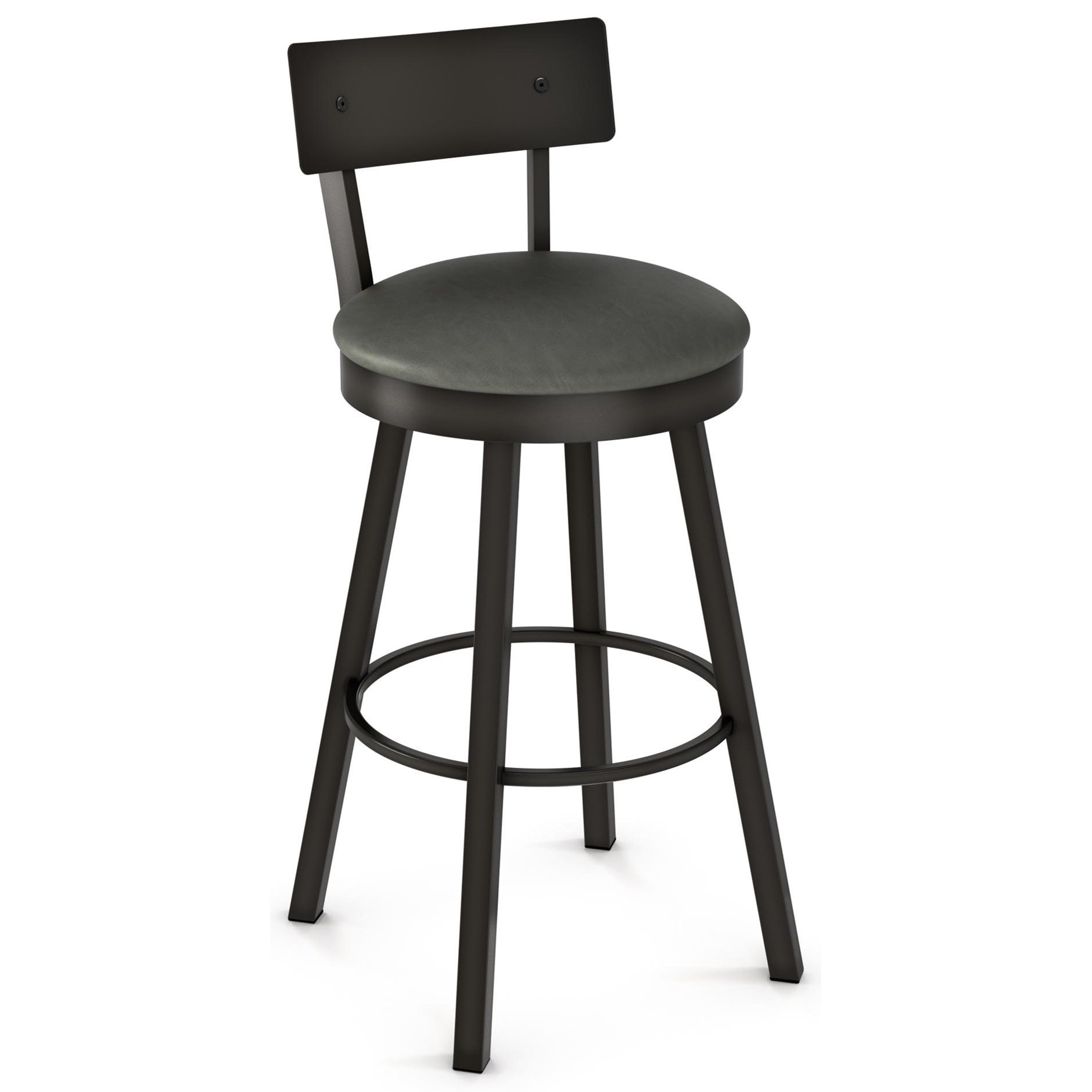 """Industrial 26"""" Lauren Swivel Stool by Amisco at Dinette Depot"""