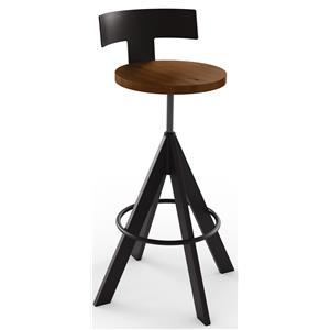 Amisco Industrial Uplift Adjustable Height Stool