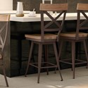 """Amisco Industrial 26"""" Kyle Swivel Stool with Wood Seat - Item Number: 41414-26-52-87"""
