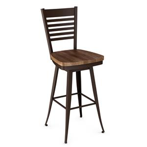 "Amisco Industrial Edwin 26"" Swivel Barstool"