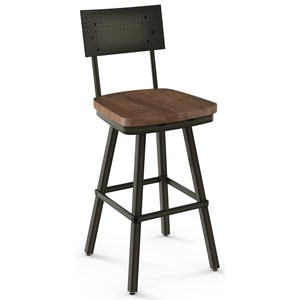 "2257 Industrial 30"" Bar Height Jetson Swivel Stool"