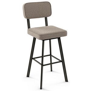 Amisco Industrial Brixton Swivel Stool, Bar Height
