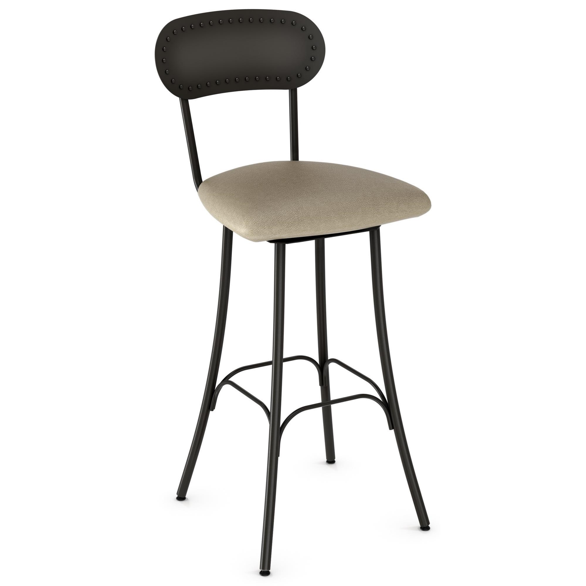 "Amisco Industrial 26"" Bean Bar Stool - Item Number: 41568-26-51-DP"