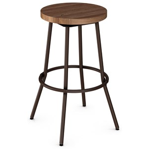 "2257 Industrial 30"" Bluffton Swivel Stool Without Backrest"