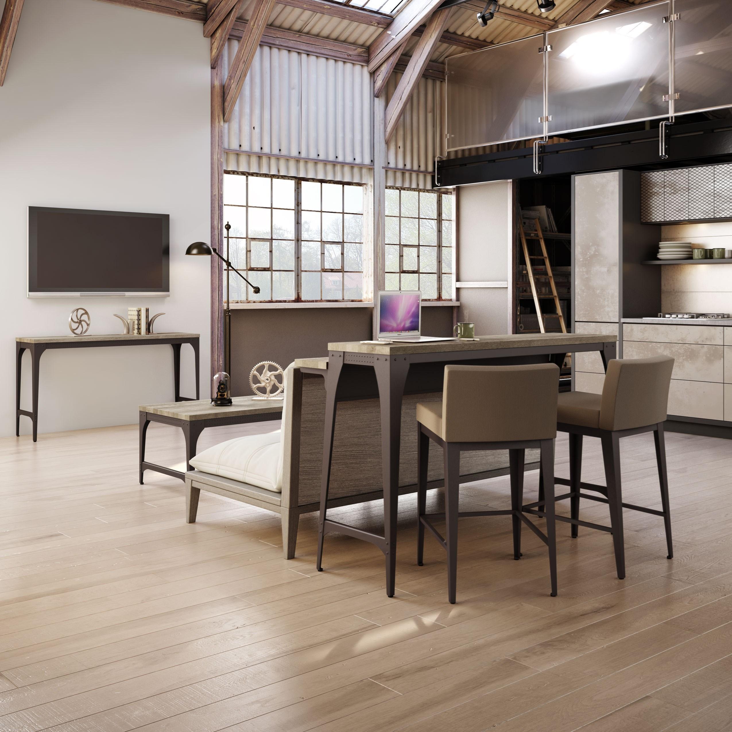 amisco industrial customizable elwood living room island