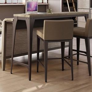 Amisco Industrial Elwood Living Room Island Table