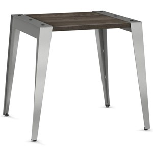 2257 Industrial Wedge End Table