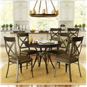 Amisco Kai Dinette 5 Piece Dining Set - Item Number: 50609+4X35214