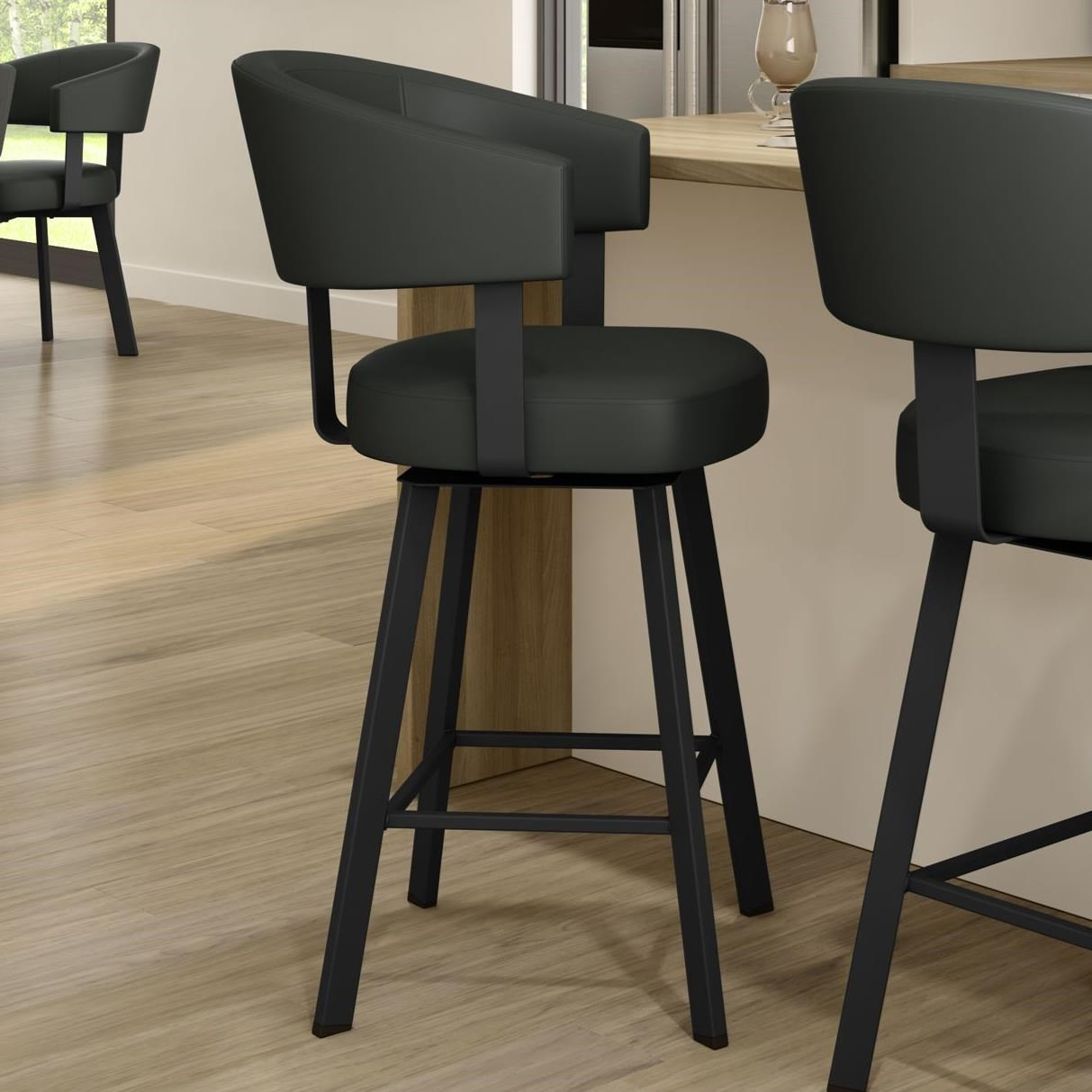Amisco Nordic 41560 26 25 El Customizable 26 Grissom Swivel Counter Stool Upper Room Home Furnishings Bar Stools
