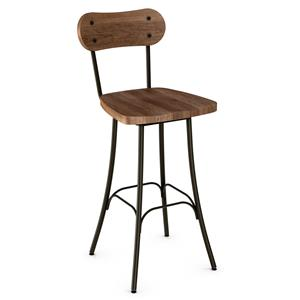"Amisco Stools Bean 26"" Swivel Barstool"