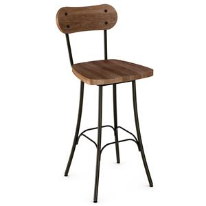 "Amisco Stools Bean 30"" Swivel Barstool"