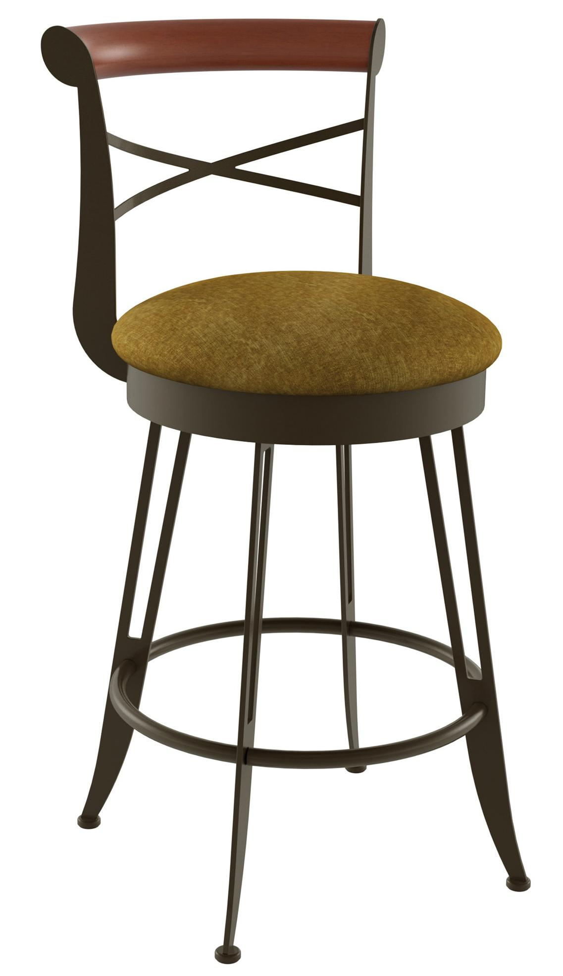 "Countryside 30"" Historian Swivel Bar Stool by Amisco at Dinette Depot"