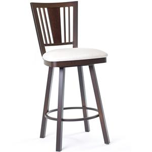 Amisco Stools Madison Counter Height Swivel Stool