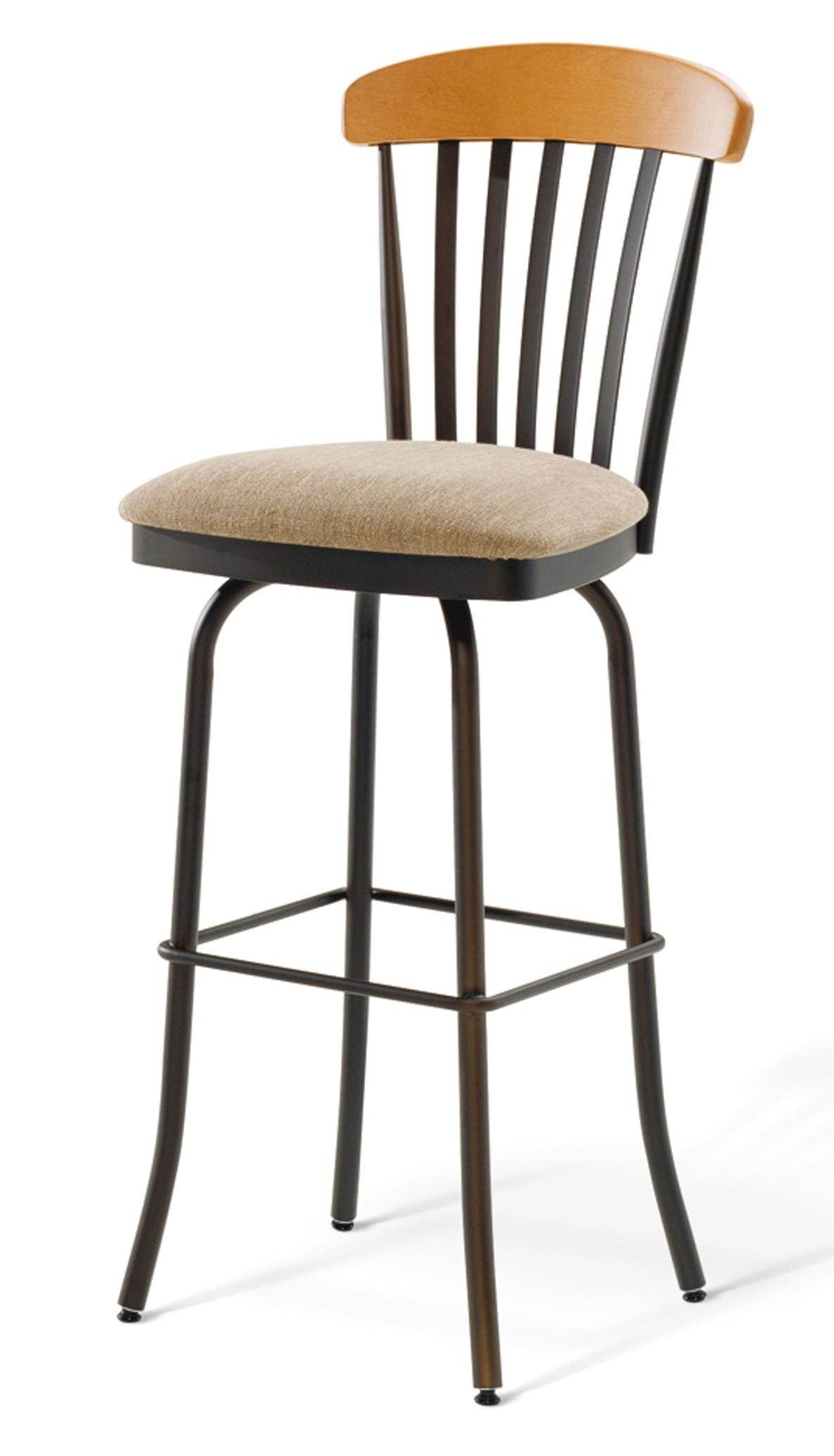 Tammu Back: Amisco Stools Tammy Swivel Stool With Upholstered Seat And