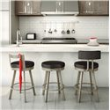 Amisco Stools Bryce Swivel Stool with Round, Upholstered Seat - Shown with Customizable Options