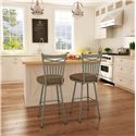 Amisco Stools Cottage Garden Counter Stool with Spindle Back with X Design