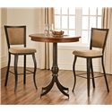 Amisco Stools Juliet Bar Stool - Shown with a Pub Table