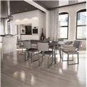 Amisco Tables Amisco Nexus Expandable Dining Table with Metal Legs