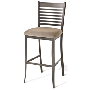 """26"""" Edwin Counter Stool with Fabric Seat"""