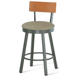 "34"" Spectator Height Lauren Swivel Stool"