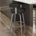 "Amisco Urban 26"" Garrett Swivel Counter Stool - Item Number: 41412-26-24-BQ"
