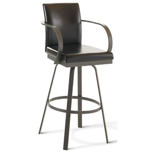"Amisco Urban Customizable 30"" Lance Swivel Stool"