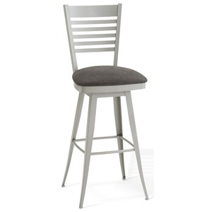 "34"" Spectator Height Edwin Swivel Stool"