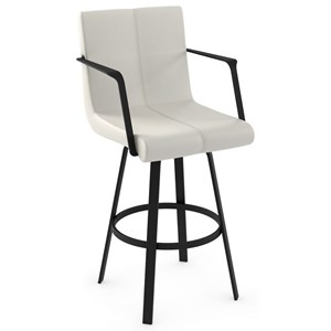 "34"" Spectator Height Edward Swivel Stool"