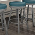 """Amisco Urban 26"""" Counter Height Rudy Swivel Stool - Item Number: 42442-26-24-HG"""