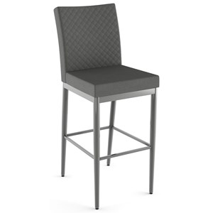 "30"" Melrose Bar Stool w/ Quilted Fabric"