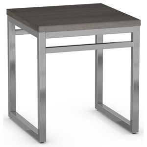 Customizable Crawford End Table with Square Wood Top