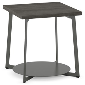 Customizable Malloy End Table with Wood Top