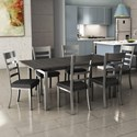 Amisco Urban Zoom Extendable Table Set - Item Number: 50522-24+90891-48+6x30154