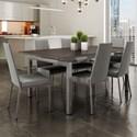 Amisco Urban Zoom Extendable Table Set - Item Number: 50522-24+90891-48+6x30320-24-BI
