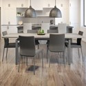 Amisco Urban Zoom Extendable Table Set - Item Number: 50522-57+90591-34+6x30331-57-EU