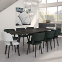 Amisco Urban Hendrick Extendable Table Set - Item Number: 50532-25+90893-48+8x30535