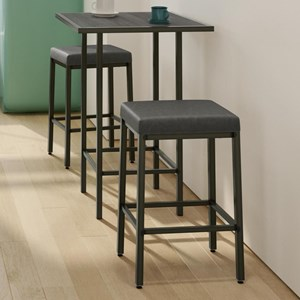 Customizable 3-Piece Aden Counter Height Pub Table Set