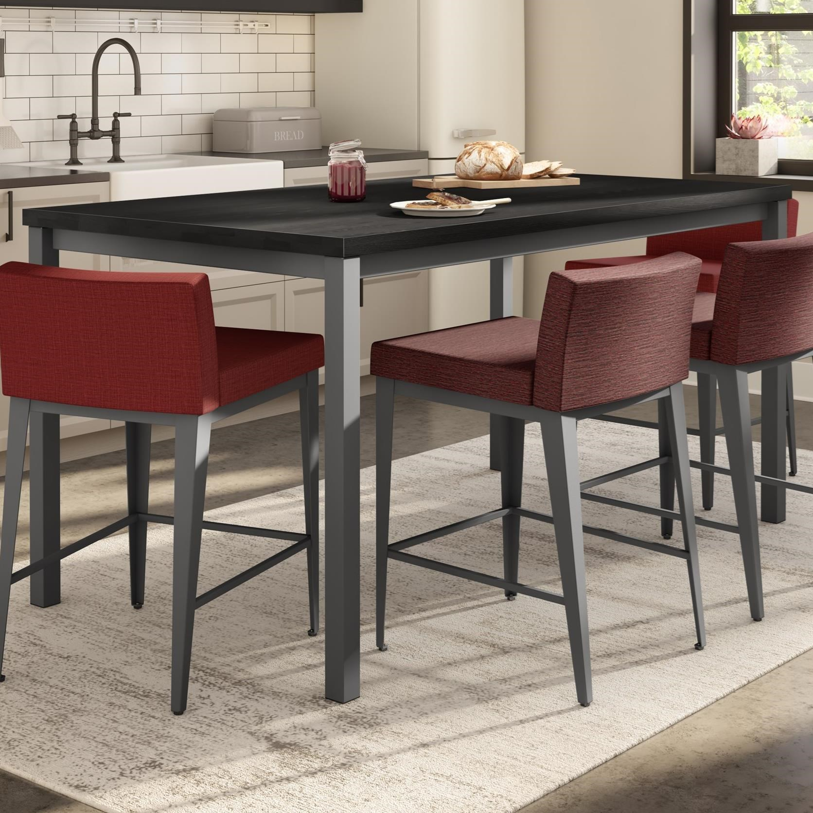 Boudoir Bennington Counter Table with Wood Top by Amisco at Jordan's Home Furnishings