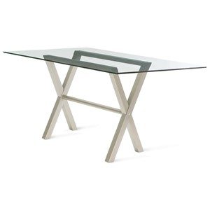 Customizable Andre Table with Glass Top