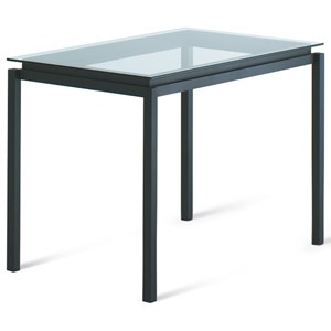 Customizable Contemporary Robert Bar Table with Glass Top