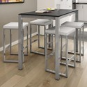 Amisco Urban 5-Piece Harrison Counter Table Set - Item Number: 50968-36-24+90268+4x40039-26-24-BP