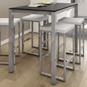 Amisco Urban Counter Harrison Pub Table with Glass Top - Item Number: 50968-36-24+90268