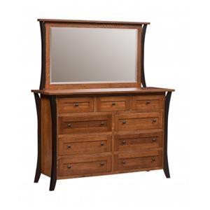 Amish Dresser and Mirror